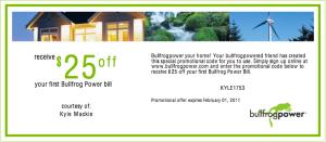 Bullfrog Power Gift Certificate
